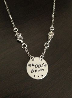 Harry Potter Muggle Born Necklace with Owls by TheOwleryGallery, $18.00