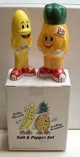 Adorable Anthropomorphic Dole Banana & Pineapple  Salt & Pepper Shakers MIB
