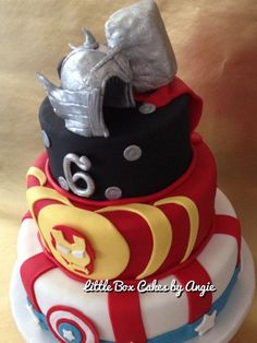 Avengers+Cake!+-+Cake+by+Little+Box+Cakes+by+Angie