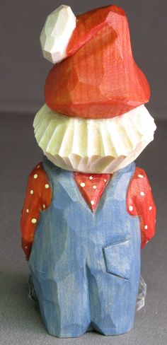 Santa Christmas gnome wood carving caricature by cjsolberg on Etsy