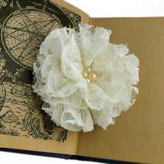 DIY- Flower Pin | Her Campus... Free tutorial for making this Lacy and pretty flower!!