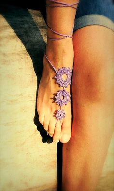 Crochet Barefoot Sandals, Foot jewelry, Wedding, Crochet Sandles, Sexy, Yoga, Anklet, Nude shoes