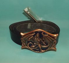 Dragon Belt Buckle With Leather Belt & Instructions *NEW*