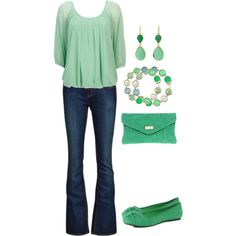Pretty much my every weekend going out casual outfit....jeans, flats, and a cute casual top