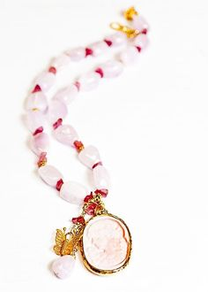 Romantic Kunzite with Cameo by Paola0130 on Etsy