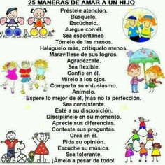 25 ways to lov ur child I Love You Mom, Mom And Dad, Learning To Be, Learning Spanish, Spanish Teacher, Mom Quotes, Health Education, Mother And Child, Family Kids