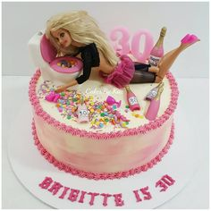 Poor Barbie! This was a fun cake to make. Drunk Barbie