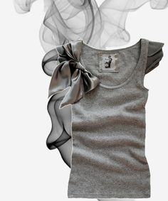 Women bow top gray modern romantic by tratgirl by tratgirl55, $29.99