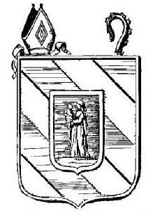 Armoiries de l'Abbaye de Oigny (Côte d'Or) tirées du Bulletin d'histoire et d'archéologie religieuses du Diocèse de Dijon. 1883. Bulletins, Bnf, Coat Of Arms, Nun