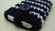 crochet cell phone case pattern - YouTube