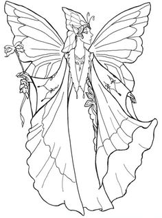 Fairy Coloring Pages For Adults Designs Fairy Mermaid Blog