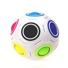 2017 Hot Sale Rainbow Magic Ball Plastic Cube Twist Puzzle Toys For Kids Educational Toy Stress plastic Ball Play Jouet Enfant