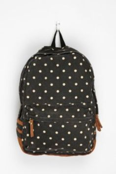 Polka Dot Backpack / Carrot
