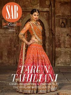 Tarun Tahiliani lengha. South Asian Bride Magazine
