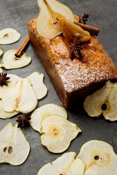 The Pear and Ginger Butter Cake makes the perfect accompaniment to afternoon tea or decadent dinner party dessert