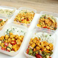 Mealprep lunch 4 dagen clean eten vegetarisch