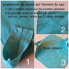 sac___tarte_pas___pas_4__2_ Sewing Projects, Projects To Try, Couture Sewing, Love Crochet, Sewing Patterns, Paper Towels, Basket, Craft Ideas, Diy Crafts