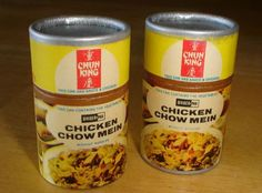 growing up in a small country town with no Chinese take out around this was what we knew as Chinese food! The fried chow mein noodles were in a separate can stacked on top. Those Were The Days, The Good Old Days, Chicken Chow Mein, Retro Recipes, I Remember When, Oldies But Goodies, My Past, Chinese Restaurant, Good Ole
