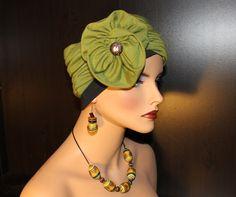 Turban Hat Head wrap soft Jersey Knit cotton by MonBoChapoHat, $65.00
