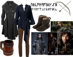 "When I go to cons, I like to Cosplay and support my favorite universe, but I also like to wear clothes that will pass in the Muggle world, if the fancy does strike. That's why I love casual cosplay!  ""Kili - The HOBBIT"" by kauaigurl4 on Polyvore  #renratsguide"