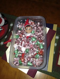 The Elf on the Shelf version of a ball pit. Haven't seen this one yet! Such a fun idea with kids - or not, haha!