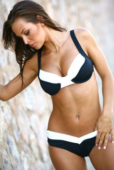 Two Piece :: Designer Bikinis :: Black and White Calypso - Swimwear, Women's Swimsuits, Bathing Suits, Bikinis