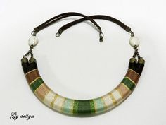 Sylenteri statement necklace handmade wrapped with by Gydesi, $33.00