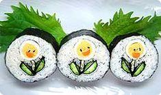 Après les drapeaux à manger et les sculptures sur fruits, focus sur un autre art culinaire visuel : le sushi art. C'est beau, c'est coloré ... et c'est frais. Allez, sur ce, je vais me faire un ptit j