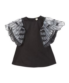 Another great find on #zulily! Black Butterfly Tunic - Toddler & Girls #zulilyfinds