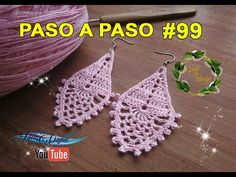 Como hacer Aretes en crochet #99 geniales!! - YouTube Crochet Earrings Pattern, Crochet Necklace, Jewelry Boards, Diy And Crafts, Jewlery, Crochet Batwing Tops, Knitting And Crocheting, Necklaces, Tricot