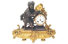 One Kings Lane Vintage Antique French Bronze Mantel Clock - Vermilion Designs Antique Wall Clocks, Wall Clock Wooden, Antique Decor, Antique Clocks For Sale, Antique Armoire, One Kings Lane, Old Furniture For Sale, Danish Furniture, Cheap Furniture