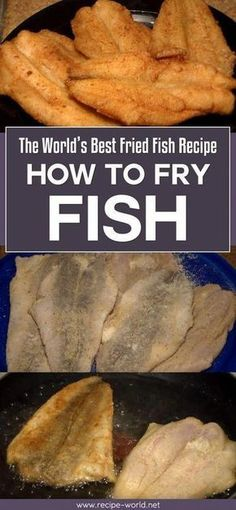 The best recipe for fried fish in the world - how to fry fish - . - The best fried fish recipe in the world – how to fry fish - Best Fried Fish Recipe, Breaded Fish Recipe, Fried Catfish Recipes, Best Fish Recipes, Cod Fish Recipes, Trout Recipes, Baked Fish, Salmon Recipes, Seafood Recipes
