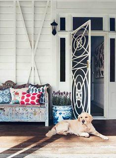 Anna Spiro: Interior designer's colourful Brisbane home Futon Chair, Futon Mattress, Anna Spiro, Interior Styling, Interior Design, Futon Covers, Queenslander, Colorful Artwork, Dreams