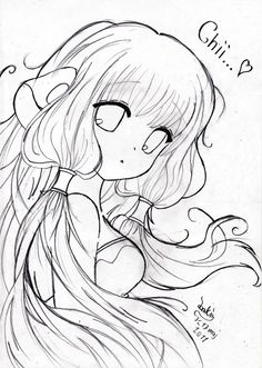 how+to+draw+chii+from+chobits   chobits chii 4 by joakaha fan art traditional art drawings movies tv ...