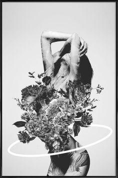 Be Slowly Kunsttryk af Dániel Taylor - - Images Murales, Fantasy Kunst, Surreal Artwork, Black And White Artwork, Black White, Black Art, Photo Images, Story Instagram, Design Graphique