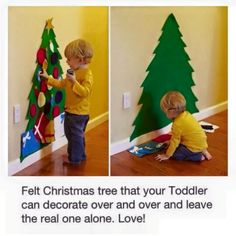 Kinder Weihnachtsbaum Set 😍 DIY Kinder Weihnachtsbaum Set 😍 DIY Kinder Weihnachtsbaum Set 😍 DIY Felt Christmas Tree - a great holiday craft for kids Felt Christmas Tree Pattern Felt Tree Toy for Toddler Diy Felt Christmas Tree, Christmas Trees For Kids, Christmas Crafts For Toddlers, Toddler Crafts, Holiday Crafts, Holiday Fun, Christmas Holidays, Xmas Tree, Crafts With Toddlers