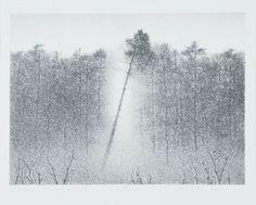 W pejzażu, litografia, 1986, by Anna Jelonek Socha