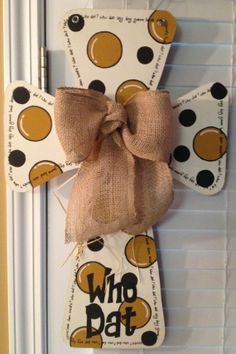 Saints Wooden Cross Door Hanger by SweetSophieJacks on Etsy, $35.00