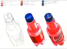 Shading Techniques, Colouring Techniques, Pencil Drawings, Art Drawings, Still Life Drawing, Object Drawing, Sketch Inspiration, Watercolour Tutorials, Marker Art