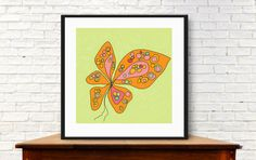 Modern butterfly butterfly wall art  tween by MyDaisyDownloads