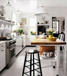 nice white and black kitchen