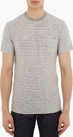 Officine Generale Grey Japanese Marl Pocket T-Shirt The Officine Generale Japanese Marl Pocket T-Shirt for SS16, seen here in grey. - - - This classic crewneck t-shirt from Officine Generale is made from a premium cotton marl construction. Featuring a  http://www.comparestoreprices.co.uk/january-2017-6/officine-generale-grey-japanese-marl-pocket-t-shirt.asp