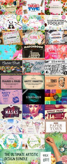 The Ultimate Artistic Design Bundle  -  https://www.designcuts.com/product/the-ultimate-artistic-design-bundle/