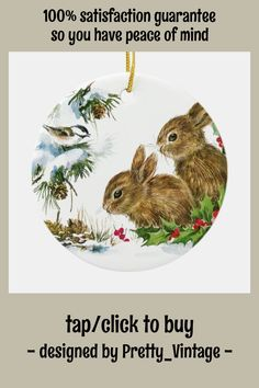 Cute Bunny, Bunny Rabbit, Horse Christmas Ornament, Cute Designs, White Porcelain, Rabbits, Vintage Christmas, Bunnies, Snow