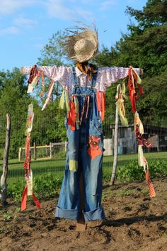And the scarecrow held a string that caused movement in the wind.