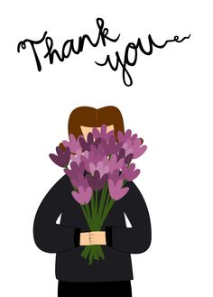 Thank you greeting card... Flowers to say Thank you.... €2.95, via Etsy.