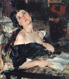 Lady in Black. Nicolai Fechin (Russian, 1881-1955).