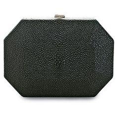 Rosie Huntington-Whiteley wearing Salvatore Ferragamo Fall 2011 Black Clutch.