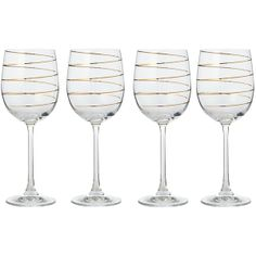 Pied a Terre Gold spiral wine glasses set of 4 found on Polyvore