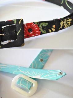 Fabric belts tutorial